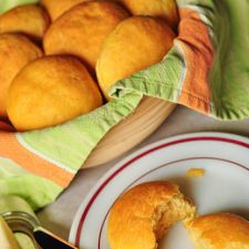 No-Knead Sweet Potato Dinner Rolls