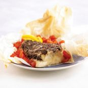 Halibut with Tapenade in Parchment