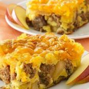 Apple-Sausage-Cheddar Breakfast Bake
