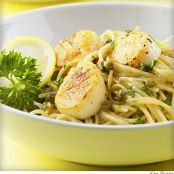 Scallp Piccata on Angel Hair Pasta