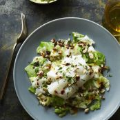 Roast Cod & Cabbage with Hazelnut-Chili Vinaigrette