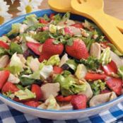 Strawberry Chicken Salad with Buttered Pecans