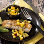 Grilled Citrus Halibut with Mango Salsa