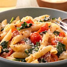 Penne Pasta With Spinach and Smoked Tomatoes
