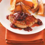 Cranberry-Maple Pork Chops Recipe