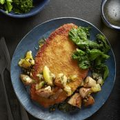 Triggerfish Schnitzel With Sunchokes & Greens