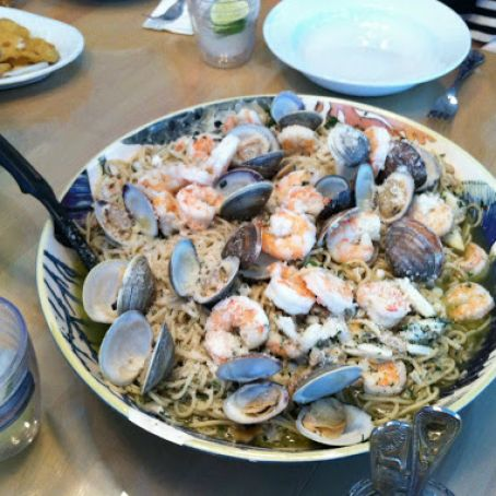 Clam and Shrimp Scampi