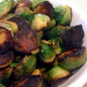 Brussel Sprouts with Vinegar Glazed Red Onions
