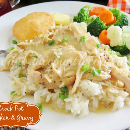 Crock Pot Easy Chicken and Gravy