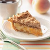 Sour Cream Peach Pecan Pie