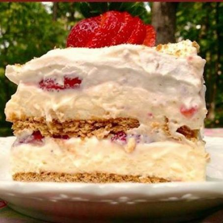 Super Strawberry Cream Cheese Icebox Cake Recipe 4 5 Funny Birthday Cards Online Barepcheapnameinfo