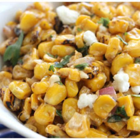 Spicy Roasted Corn & Feta Salad