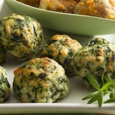 Spinach Balls with Parmesan & Cheddar