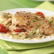 Zesty Chicken & Orzo Skillet