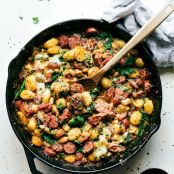 One Skillet Sausage & White Bean with Gnocchi