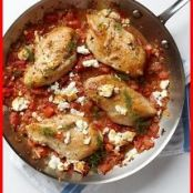 Chicken with tomatoes and feta