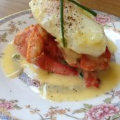 Paleo Lobster Eggs Benedict with White Wine Hollandaise