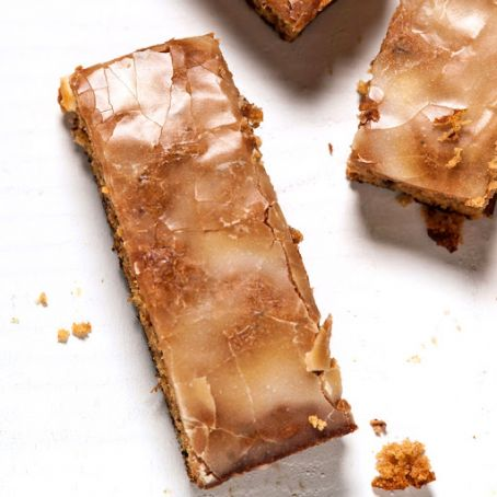Lemon-Glazed Persimmon Bars