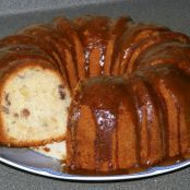 Apple Dapple Cake w/ Brown Sugar Glaze