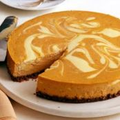 Pumpkin Swirl Cheesecake
