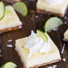 COCONUT KEY LIME CHEESECAKE BARS
