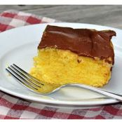 Classic Boston Cream Poke Cake