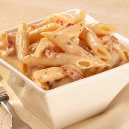 Penne Pasta with Sun Dried Tomato Cream Sauce