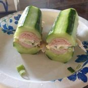 Cucumber subs with turkey