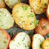Air Fryer Garlic Parmesan Roasted Potatoes