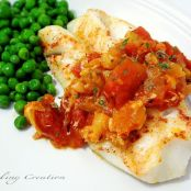 Baked Cod with Tomato & Artichoke Sauce