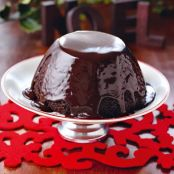 Chocolate Pudding for traditional Christmas Pudding Haters with Hot Chocolate Sauce