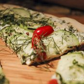 Cucumber Herb Grilled Crust Pizza