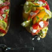 Avocado Toasts with Heirloom Tomatoes