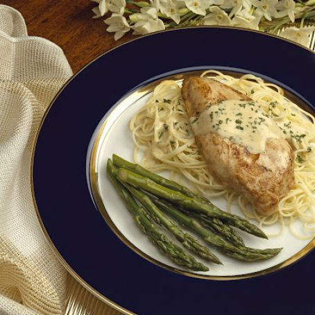 Dressed Chicken Breasts With Angel Hair Pasta Recipe 4 4 5
