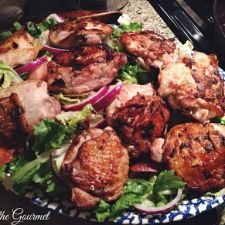 Ginger-Garlic and Lime Chicken Thighs with Escarole Salad