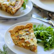 Sweet Potato, Goat Cheese and Rosemary Quiche