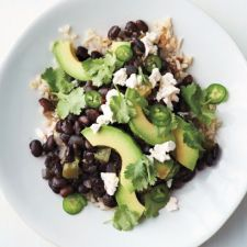 Black Beans with Rice and Avocado