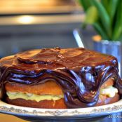 Boston Cream Whiskey Banana Pie