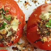 Stuffed Tomatoes with Sausage, Cheese, and Basil
