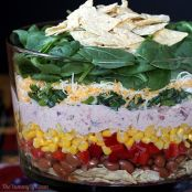 Mexican Layered Spinach Salad
