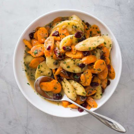 Braised Carrots and Parsnips with Dried Cranberries