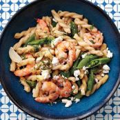 Gemelli with Shrimp and Sugar Snap Peas