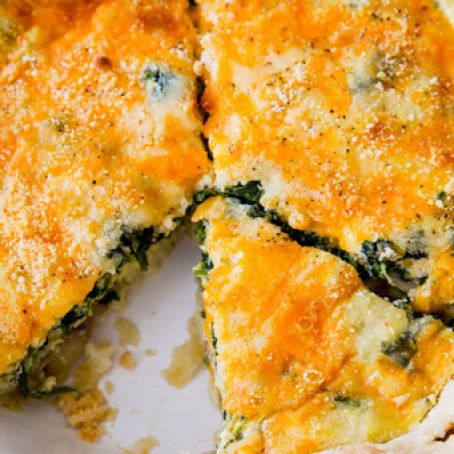 Cheesey Spinach Quiche