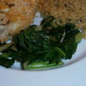 Saute'd Chard and Broccoli Leaves