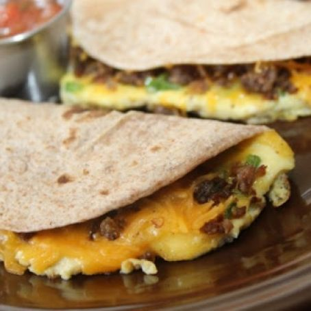Brunch Egg and Sausage Soft Tacos