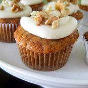 Carrot Cake Cupcakes with White Chocolate Cream Cheese Frosting