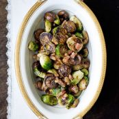Vegetable Side: Roasted Maple Brussel Sprouts with Pancetta & Chestnuts