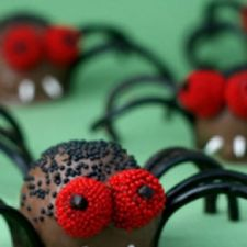 Creepy Crawly Brownie Spider Bites