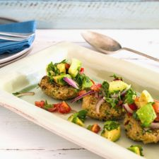 Quinoa Fritters with Avocado Salsa