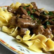 Beef Stroganoff (Using Thin Strips of Beef Tenderloin)